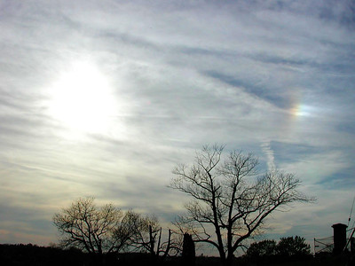 Sun dog May 2, 2007. As viewed from the Carrick area of Pittsburgh. Time about 5:45 pm EDT.