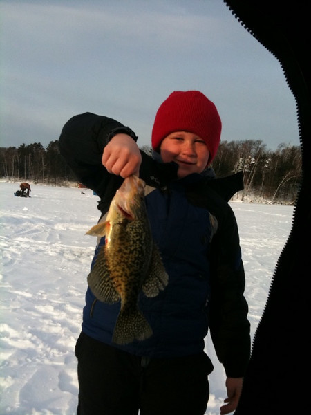 Dylan with a nice crappie