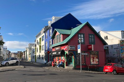 Colorful shops and houses