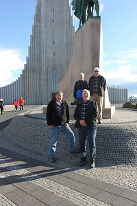 At Hallgrimskirkja - photo by Ron R.