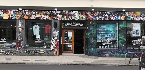 Used record store in Reykjavik