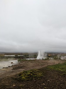 Eruption of Strokkur geyser at Geysir