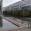 Entrance to the parking garage at the Reykjavik city hall