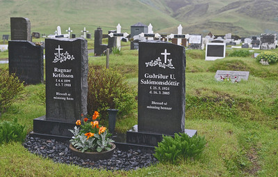 Cemetery, on the hill above Vik