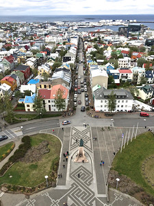 View from the tower of Hallgrimskirkja