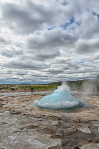 Strokkur, about to erupt