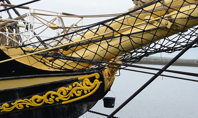 Figurehead on a Swedish training ship in port