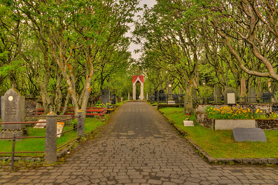 Gated cemetery