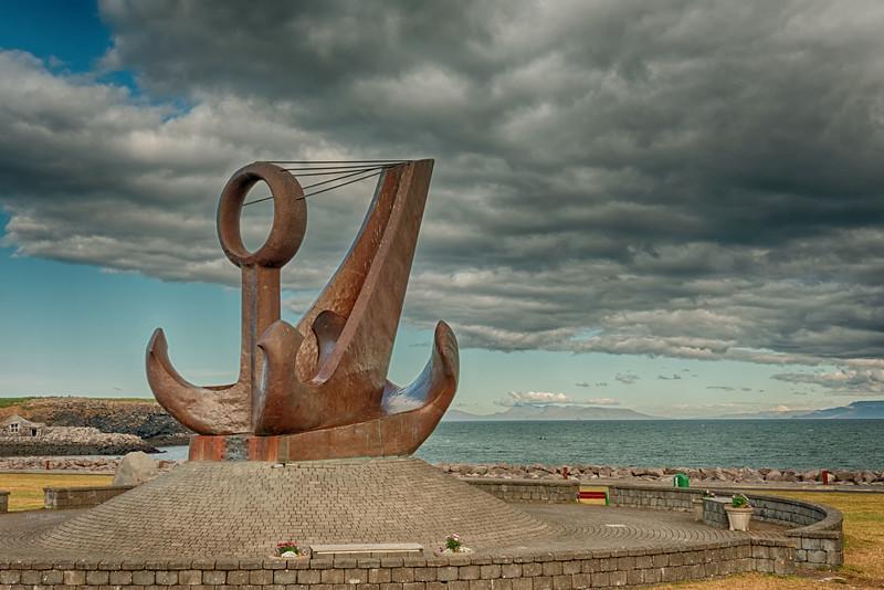 Sculpture on Keflavik harbor
