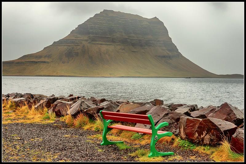 Kirkjufell Mountain  as seen from Grundarfjörður
