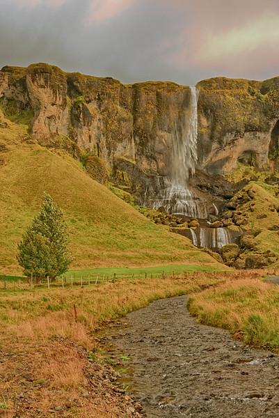 Broader view of waterfall on Highway 1