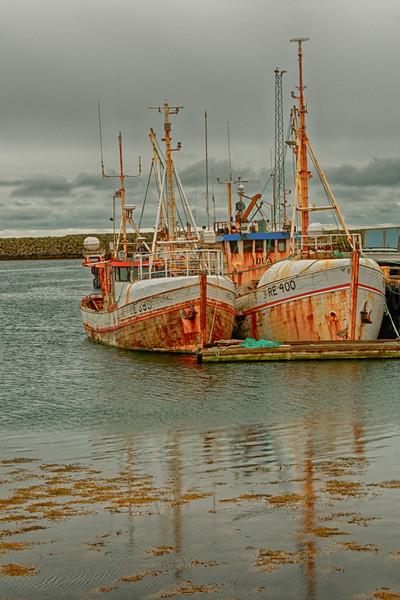 Oxidation -- Ships in Grindavik Harbor