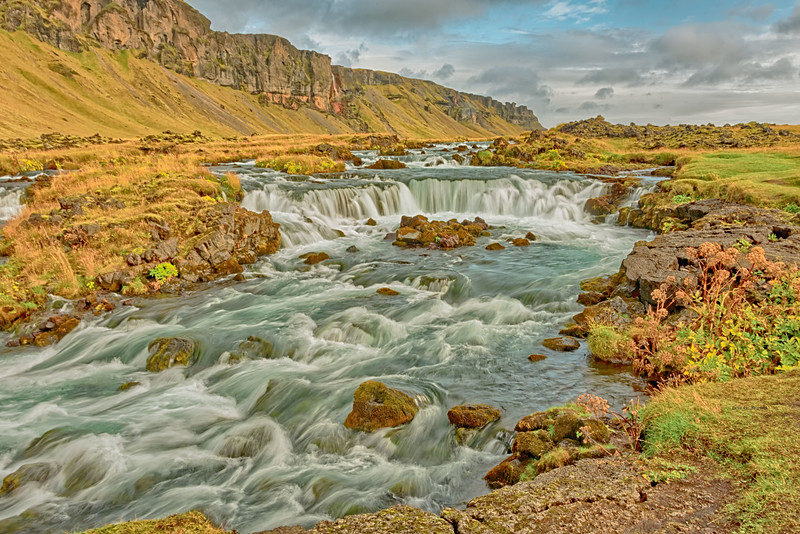 Glacial stream, Highway 1, southern Iceland