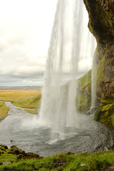 View from behind Seljalandsfoss - 1