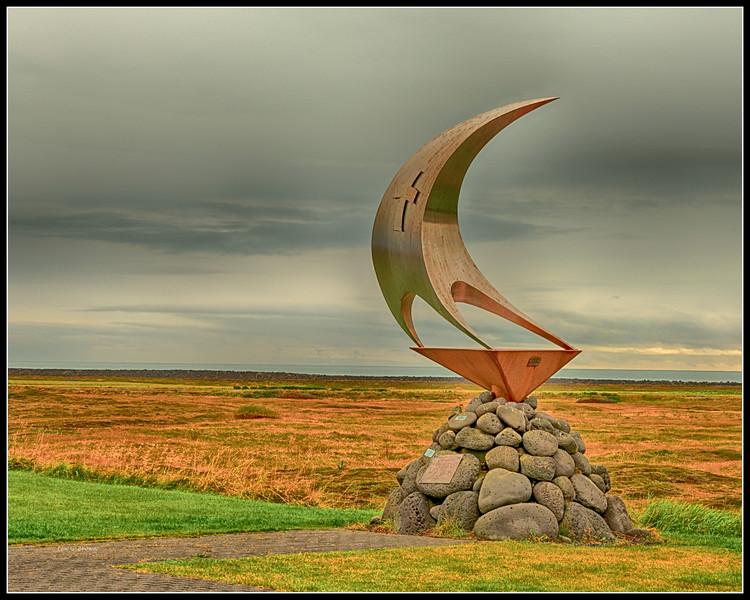 Sculpture in Grindavik, Iceland