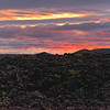 Sunset over a lava field, Grindavik