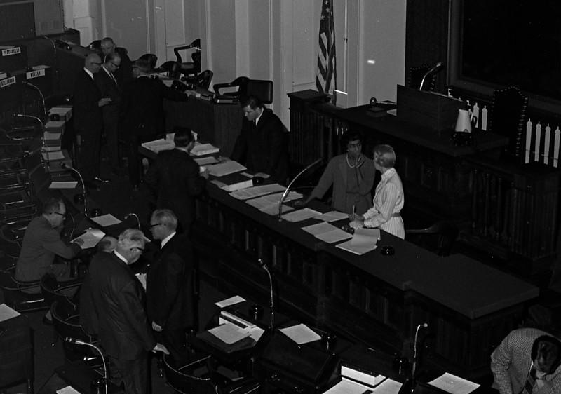Delegates to Illinois Constitutional Convention in Springfield, IL  (1970).