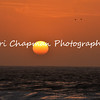 This is an image of the sun setting over Monterey, California.