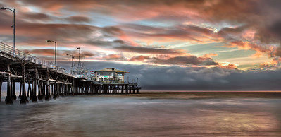 """Phantom Sunset"" Santa Monica, CA  19"" x 9.2"" archival print  $600 framed - 24"" x 18"" frame with white mat  $400 unframed print with white mat  Signed & Numbered Limited Edition of 75 of this size  Also available as: 40"" x 19.5"" archival print  $1,200 framed - 48"" x 27"" frame with white mat  Signed & Numbered Limited Edition of 25 of this size"
