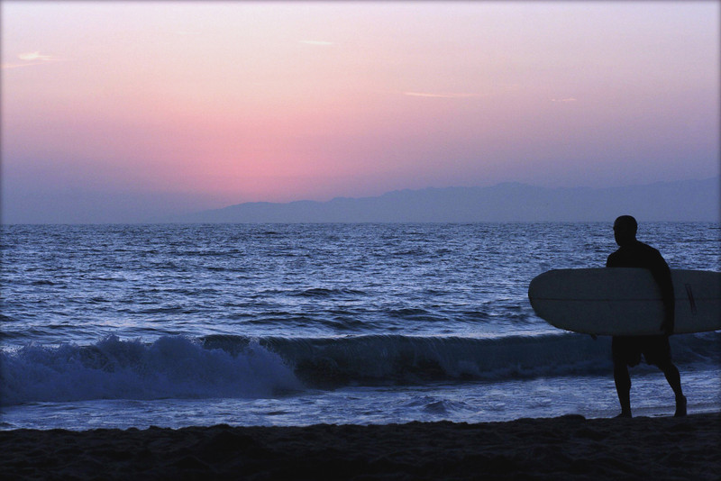 Pink Sky Surfer~<br /> <br /> Hermosa Beach, Ca.