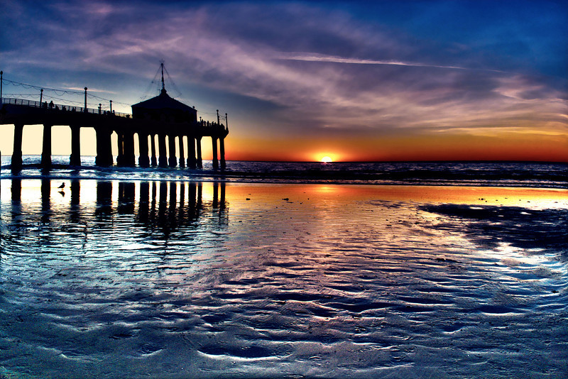 Footprints in the sand~<br /> <br /> <br /> Manhattan Beach Pier~Manhattan Beach, CA.
