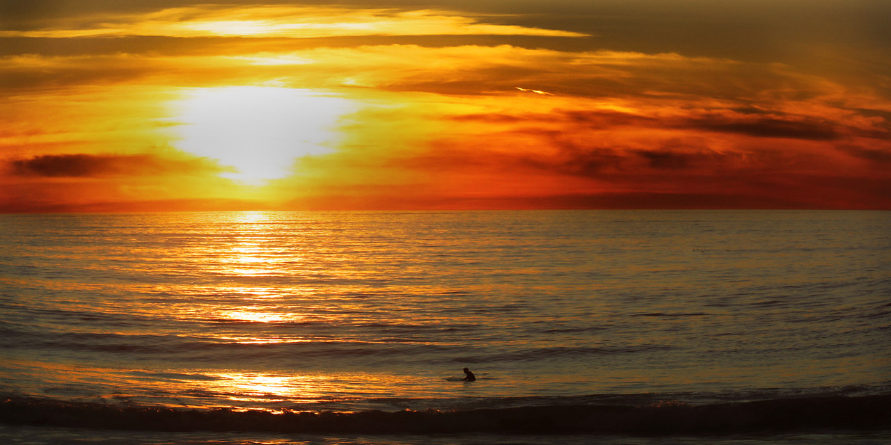 Surfboard Serenity~<br /> <br /> Best seat in the house for another gorgeous Hermosa Beach sunset.<br /> <br /> Hermosa Beach, Ca.