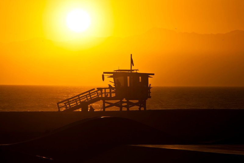 Venice Beach Baywatch~<br /> <br /> Lifeguard tower on Venice Beach, CA.