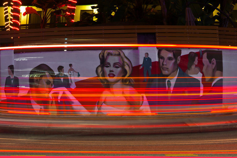 Traffic Glam~<br /> <br /> Night Traffic Light Trails along Hollywood Boulevard<br /> Hollywood, Ca.<br /> <br /> <br /> *Photo of the week ExperienceLA.com~ Sept. 7, 2012
