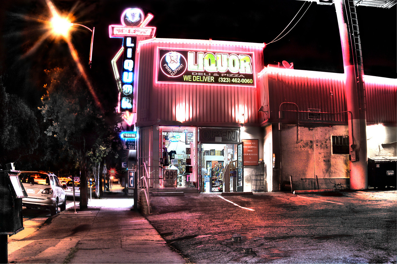 Pink Hangover-<br /> <br /> The vibrant Pink Elephant liquor store in Hollywood, CA.