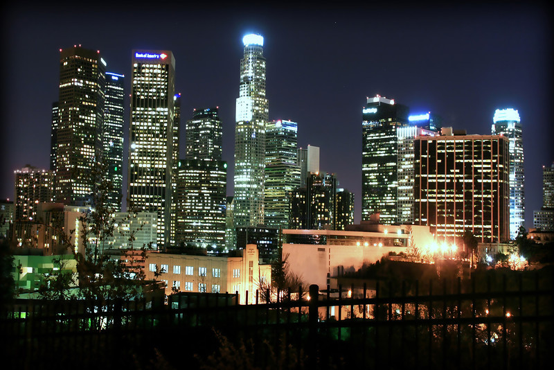 I Heart L.A.<br /> <br /> <br /> Los Angeles Skyline at Night~