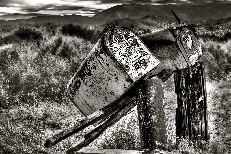 Lonely Mail Seeking Attention~<br /> <br /> <br /> Beautiful, shabby, neglected mailboxes in Palmdale/ Lancaster desert.