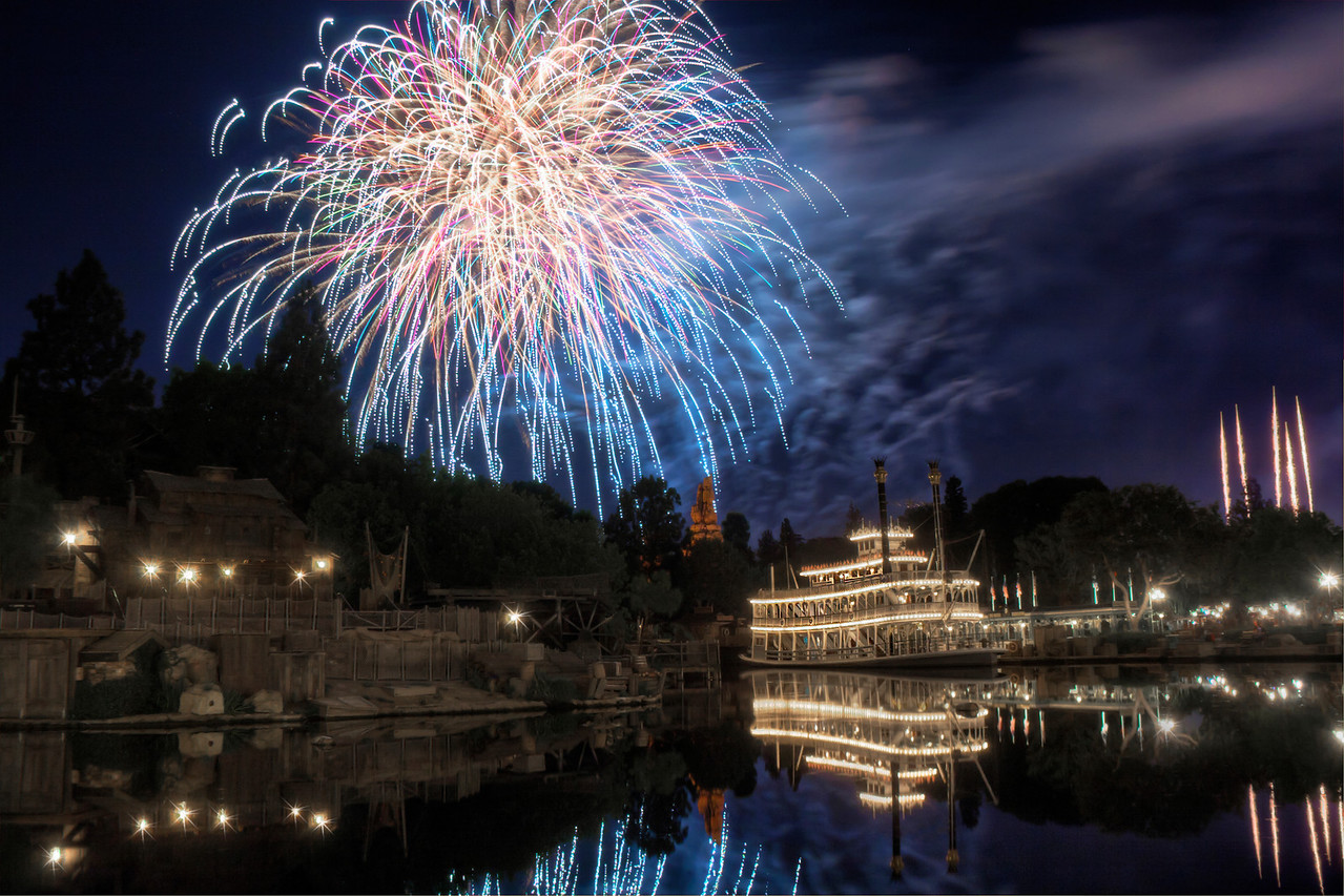 Disneyland Fireworks over the Rivers of America<br /> Anaheim, CA