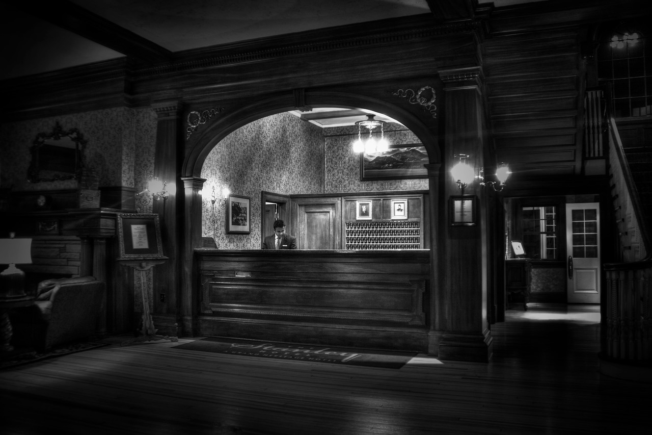 Check in but you may never check out ~ The Lobby of the Stanley Hotel.<br /> <br /> Estes Park, CO
