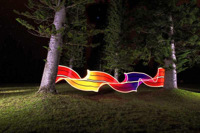 """Light Fence"" - Light Painting in Hawaii"