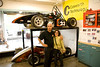 Dan and Elinor Yovanovich with the RIT Formula race cars