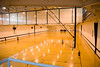 The student life center's five basketball courts