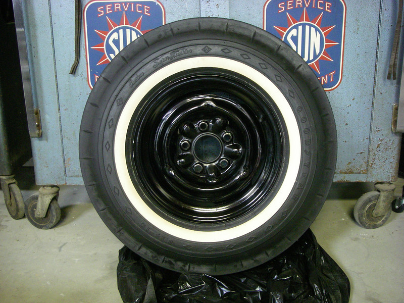 Original, unused 1965 Goodyear 8.25x14 spare that I got with the car.