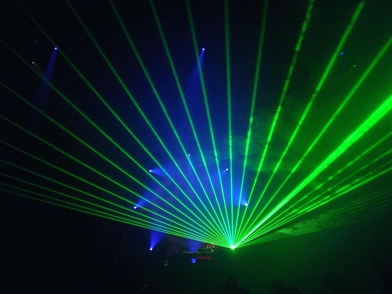 Astrid had an amazing laser show! But my batteries were going dead too soon