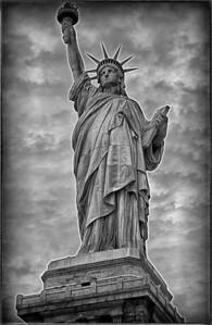 Statue Liberty B&W