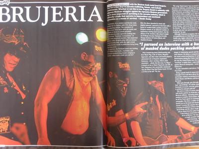 Brujeria in Thrasher magazine 2010