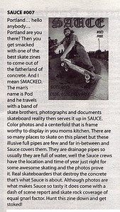 "SAUCE review in ""Absolute Underground""  Victoria, B.C.  Canadian Punk/Hardcore newspaper"