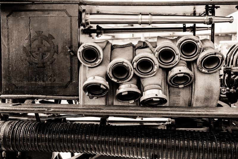 Pompe à vapeur 1868 Mulhouse - Musée du Sapeur Pompier Vieux Ferrette