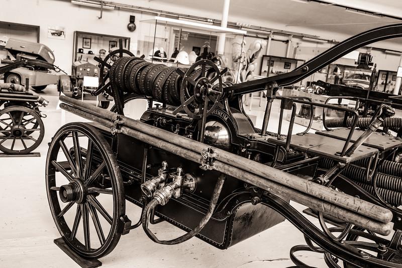 Pompe à bras Grether 1894 - Musée du Sapeur Pompier Vieux Ferrette