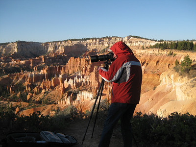 Getting up early to photograph in great morning light sometimes means it's cold, especially at 8,000 feet in elevation in Bryce Canyon, Utah. But it is so worth it!