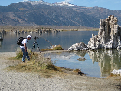 Tufas at Mono Lake, California, which is east of Yosemite National Park, California.