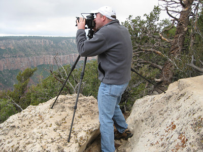 I didn't let a foggy, drizzly, overcast morning stop me from shooting on the Grand Canyon North Rim.