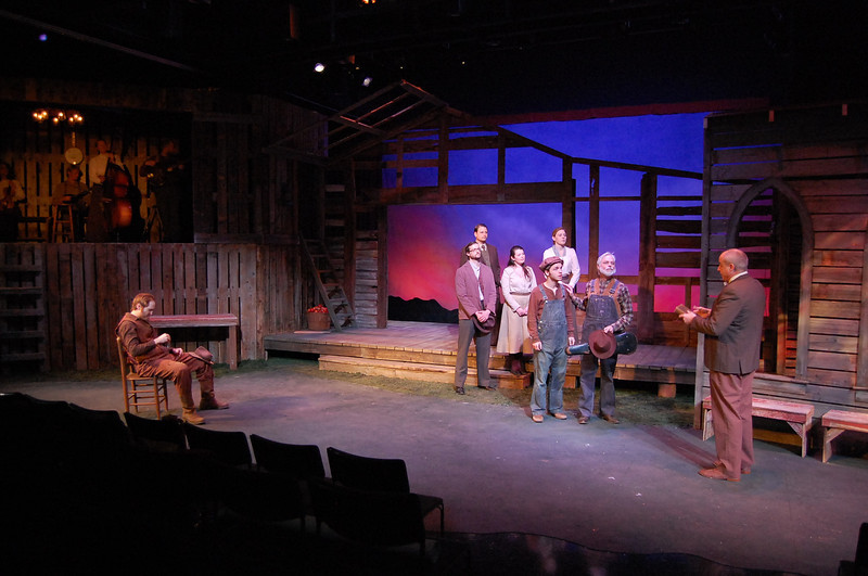 "<h2>SUNDOWN TOWN (Theatre Squared)</h2> <br><h4>""The <strong>set is gorgeous</strong> and the music is transporting.""  – Fayetteville Flyer</h4>"