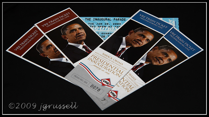 Tickets to the inauguration