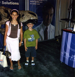 Rachel and Grant at trade show in Las Vegas, NV (?).