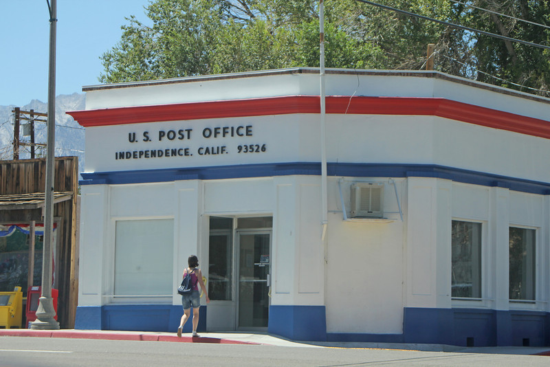 8/15/11 Independence Post Office at the corner of Market and Webster St. Eastern Sierras, Inyo County, CA